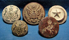 5 Buttons Pre 1948 military. PALESTINE, British, USA, Ottoman. Found in ISRAEL.