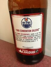 1988 molson stanley cup nhl Edmonton Oilers beer bottle glass empty collector