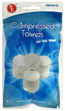 "New 12pc Compressed 3/4"" Tablet Size Hand Towels NW9510-12 (Just Add Water )"