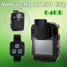 64G Ambarella A7 Super HD 1296P Police Body Camera IR Light 140°+Remote Control