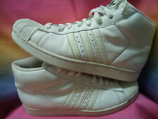 ADIDAS PROMODEL SUPERSTAR 079688 WHITE HIGH TOPS. FREE & FAST POSTAGE.