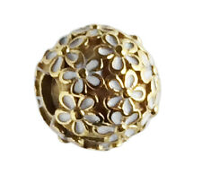Authentic PANDORA Darling Daisy Meadow Clip Charm 24K Gold Plated 791494EN12