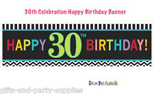 Thirtieth 30th Birthday Party Decoration Supplies Giant Celebration Sign Banner