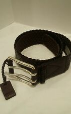 MICHAEL KORS WOMENS CHOCOLATE BROWN BRAIDED WEAVE BELT SIZE  XLG, NWT 42.00