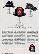 CAIRNS FIRE HELMETS WHICH MATERIAL TO CHOOSE      1963  AD