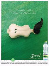 PUBLICITE ADVERTISING 104  2001   CONTREX  eau minérale POIRE-VANILLE