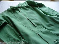"ANTIQUE FRENCH LINEN NIGHTSHIRT CHEMISE LINEN SMOCK ANTIQUE LINEN ""APPLE GREEN"""