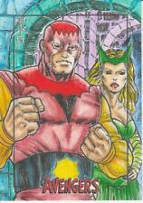 Marvel The Avengers Silver Age Trading Cards - Sketch Card by Ropa - Enchantress