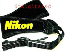 "For Nikon 2.5"" inch Wide Camera Shoulder Neck Strap SLR DSLR Digital Film Black"