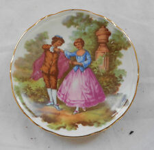 Rare VINTAGE LIMOGES MEISSNER CHINA PLATE Miniature ROMANTIC SCENE 11cm