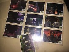 RARE STAR WARS ANIMATION CEL CARDS Set 1 10 CLONE WARS TOPPS