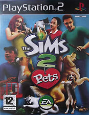 THE SIMS 2 Pets ~ ps2 GIOCO ~ SONY PLAYSTATION 2 ~ PAL ~ manuale incl