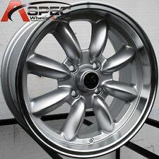 15X7 ROTA RB WHEELS 4X100 SILVER WHEELS +35MM FITS CRX CIVIC INTEGRA FIT MIATA