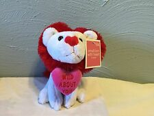 plush Lion with Wild about You heart