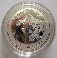2012 Australian Perth Mint Lunar Year of the Dragon 1oz .999 Silver Bullion Coin