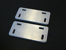 Pair Aluminum Fuel Tank side step Mounting Bracket Plate Tamiya 1/14 Semi Truck