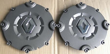 Pair of Genuine Renault Synthese Alloy Wheel Centre Caps Megane 225 Clio 182