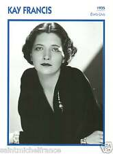 KAY FRANCIS ACTRICE ACTRESS FICHE CINEMA USA 90s