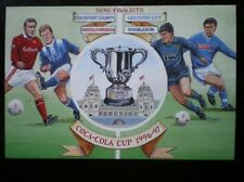 POSTCARD 1996-97 COCA COLA CUP SEMI FINALIST STOCKPORT - MIDDLESBOROUGH - LEICES