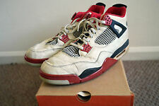 1989 Nike Air Jordan Original Fire Red IV OG 4 Vintage Size 13