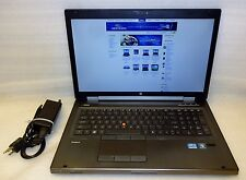 "HP EliteBook 8760W 17"" intel Core i7 2.70GHz 4GB RAM 320GB Windows 10 Pro ATI"