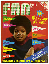 FAN Magazine No 14 Oct 1973 David Cassidy Essex Bowie Michael Jackson Osmonds