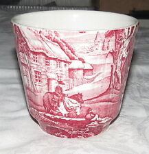 "Old Foley James Kent Staffordshire Pink Transferware 4"" x 4.1/2"" Cache Pot KNT3"