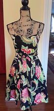 Aryeh Anthropologie Womens Floral Sundress Fit & Flare Dress Size LARGE