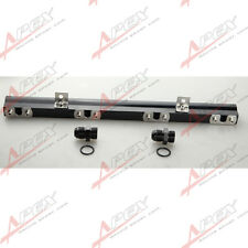 For Volvo 240 740  940 High Flow CNC Billet Aluminum Alloy Fuel Rail Black