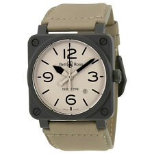 Bell and Ross Aviation Desert Mens Watch BR03-92-DESERT TYPE