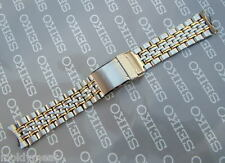 SEIKO 19mm SOLID STAINLESS STEEL+ GOLD WATCH STRAP 4060-Z.I