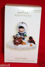 Hallmark 2007 FROSTY FRIENDS #28 Ornament Eskimo and Penguin Making Ice Cream