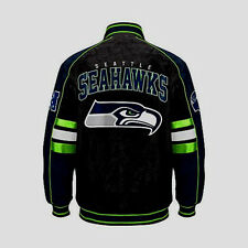 Seattle Seahawks SUEDE & LEATHER COLORBLOCKED JACKET NWT