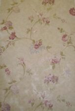 Mirage Satin Plum Floral Wallpaper-Double roll