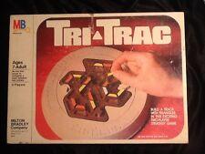 Vintage Tri Trac Two Player Strategy Game VG Milton Bradley 1980