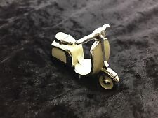 Silver PLATED DECORATED W/ SWAROVSKI CRYSTAL ELEMENTS Scooter PEWTER
