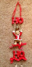 CHRISTMAS BEARS WALL TREE HANGING HO HO HO BELLS CUTE!!!!