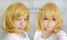 /Project/RIN/Alice Short Dark Blonde Curly Cosplay BoB Wavy Wig