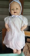 "VINTAGE E I H Co Horsman Composition Large 22"" BABY DOLL Dimples"