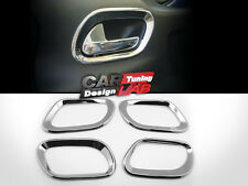 (4) Chrome Interior Inner Door handle Cover overlay Trims for Peugeot 207 5D