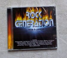 "CD AUDIO MUSIQUE/ VARIOUS ""ROCK GENERATION - LOVE & PEACE"" 2XCD COMPILATION NEUF"