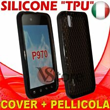 Cover Custodia Gel TPU Nero Per LG P970 Optimus Black + Pellicola Salva Display