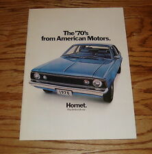 Original 1970 AMC American Motors Hornet Sales Brochure 70 Sedan