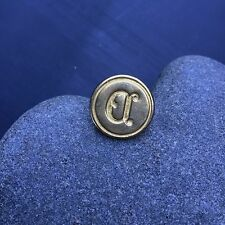 """Vintage Sealing Wax Stamp Seal Brass Italy """"D"""""""