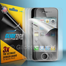 6x Full= 3x Front + 3x Back Screen Protector Cover Film for Apple iPhone 4 4S 4G