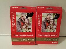 Two packs of Canon PIXMA Paper Plus Glossy II 4x6 photo paper - 200 sheets