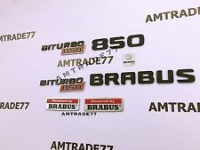 "BRABUS Style ""Brabus Biturbo 850"" set of emblems for Mercedes Benz W222 W463 set"