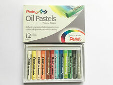 PENTEL ARTS OIL PASTELS  - PACK of 12 VIVID COLOUR WATERCOLOURS, OIL PAINTS