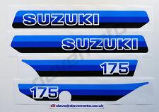 Suzuki PE175X 1981 Kit de la Etiqueta Engomada Calcomanía Kit TWINSHOCK ENDURO Motocross Clásico