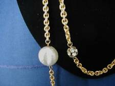 Vintage Chic balloon pearls sparkle globes and golden chain necklace